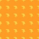 Corvo alaranjado de Dia das Bruxas do fundo do teste padrão Fotografia de Stock Royalty Free