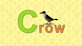 corvo Alfabeto inglese dello ZOO - lettera C royalty illustrazione gratis