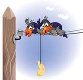 corvo e formaggio royalty illustrazione gratis