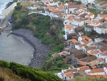 Corvo_island_Azores Arkivbild
