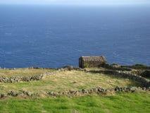Corvo_island_Azores Fotos de archivo libres de regalías