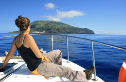 Corvo Island with french girl