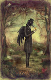 Corvo na floresta Imagem de Stock Royalty Free