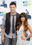 Cory Monteith and Lea Michele Stock Images