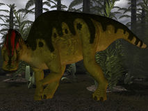 Corythosaurus-3D Dinosaur Royalty Free Stock Photography