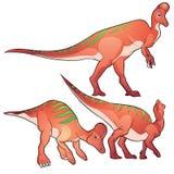 Corythosaurus. Cute Dinosaurs vector cartoon corythosaurus Royalty Free Stock Images
