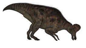 Corythosaurus dinosaur - 3D render. Corythosaurus dinosaur eating isolated in white background - 3D render vector illustration
