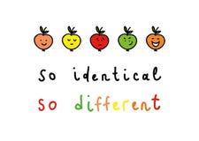 Così differente. Fotografie Stock Libere da Diritti