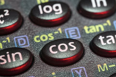 Cos button Royalty Free Stock Image