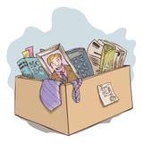 Cosa del empleado despedido de oficina. Fotografía de archivo libre de regalías