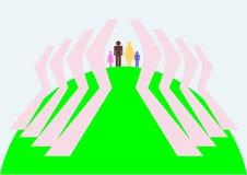 cosa Familia-principal en la tierra Libre Illustration