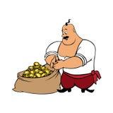 Cosacco con il sacco pieno di oro Illustrazione di Stock