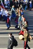 Cosacos rusos en desfile de la victoria Foto de archivo libre de regalías