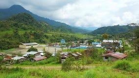 Cosanga, Napo / Ecuador - January 16 2016: Panoramic view of the town of Cosanga. Cosanga, Napo / Ecuador - January 16 2016: Panoramic view of the small town of Royalty Free Stock Photography
