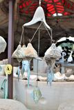 Cosanti Paolo Soleri Studios, Paradise Valley Scottsdale Arizona, United States. Clay outdoor wind chimes from Cosanti Paolo Soleri Studios located in paradise stock images