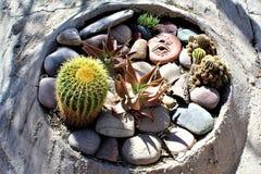 Cosanti Paolo Soleri Studios, vallée Scottsdale Arizona, Etats-Unis de paradis Images stock