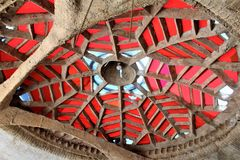 Cosanti Paolo Soleri Studios, vallée Scottsdale Arizona, Etats-Unis de paradis image stock