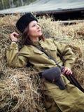 Cosaque de guerrière de jeune femme Photo libre de droits