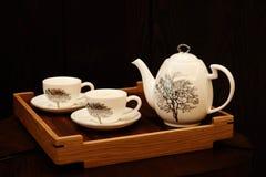 Cosas chinas del té del juego de té Imágenes de archivo libres de regalías
