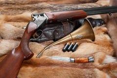 Cosas de la caza Imagen de archivo libre de regalías