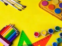 Cosas de la escuela Imagen de archivo libre de regalías