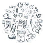 Cosas de la escuela Imagen de archivo