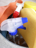 Cosas de la limpieza Foto de archivo libre de regalías