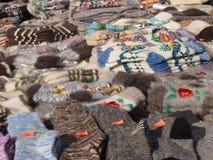 Cosas de las lanas Foto de archivo