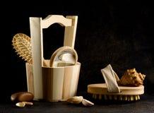 Cosas de madera Imagen de archivo