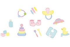 Cosas del bebé ilustración del vector
