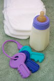 Cosas del bebé Foto de archivo libre de regalías
