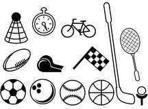 Cosas del deporte Fotos de archivo libres de regalías