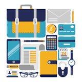 Cosas del negocio stock de ilustración