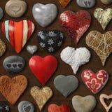Cosas en forma de corazón Imagen de archivo