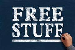 Cosas gratis Foto de archivo libre de regalías
