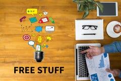Cosas gratis Fotografía de archivo libre de regalías
