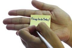 Cosas a hacer hoy Fotografía de archivo libre de regalías