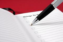 Cosas para hacer la lista fotografía de archivo libre de regalías