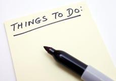 ?Cosas para hacer? la lista Fotografía de archivo libre de regalías