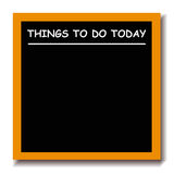 Cosas para hacer a la tarjeta negra Fotografía de archivo libre de regalías