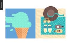 Cosas simples - color Imagen de archivo libre de regalías