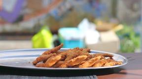 Cosce di rane fritte Fotografia Stock Libera da Diritti