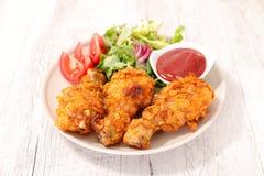 Coscia di pollo croccante fotografia stock