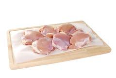 Coscie crude del pollo Fotografia Stock