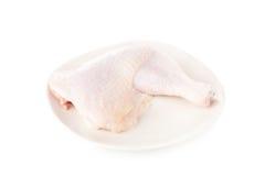Coscie di pollo crude fresche isolate su fondo bianco Immagine Stock Libera da Diritti