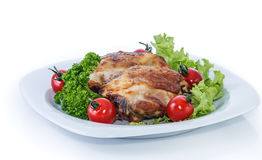 Coscie di pollo cucinate. immagini stock libere da diritti
