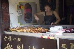 Coscie di pollo ed ali arrostite Fotografia Stock