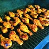 Coscie di pollo di fumo Immagine Stock