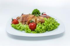 Coscie di pollo succose. immagini stock