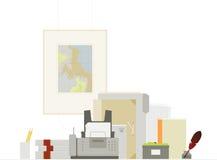 Cose e fax dell'ufficio. Immagine Stock Libera da Diritti